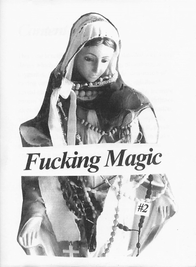 The cover of Fucking Magic #2 shows a Virgin Mary statue wrapped with fabric and beads.