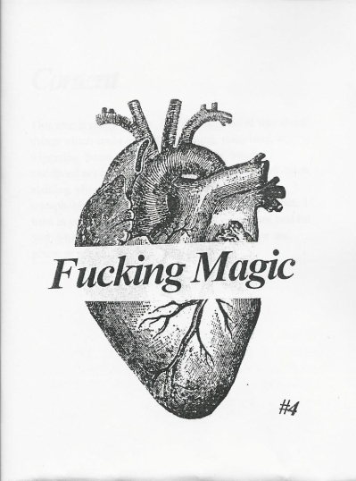 The cover of Fucking Magic #4 shows an anatomical heart.